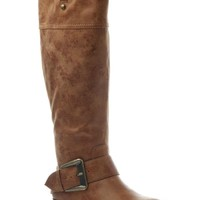 Bluebell Knee High Boots in Tan