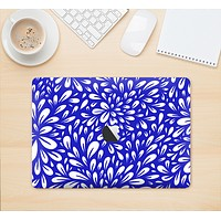 """The Royal Blue & White Floral Sprout Skin Kit for the 12"""" Apple MacBook"""
