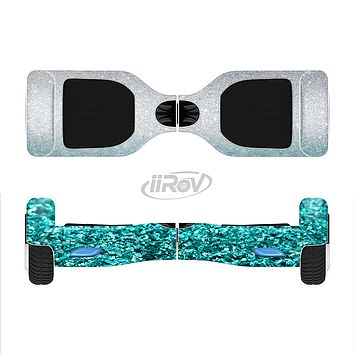 The Aqua Blue & Silver Glimmer Fade Full-Body Skin Set for the Smart Drifting SuperCharged iiRov HoverBoard