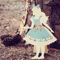 Alice In Wonderland- Alice  Silhoette Cut Out - Party Centerpiece Prop Room Decor