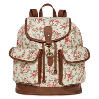 SM New York Floral Ditsy Print Cargo Backpack