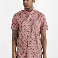 Koto Short-Sleeve Triangle Breezy Button-Down Shirt