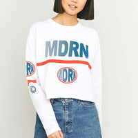 BDG MDRN Long Sleeve White T-shirt - Urban Outfitters