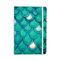 """Theresa Giolzetti """"Mermaid Tail"""" Teal Blue Everything Notebook"""