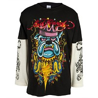 Ed Hardy - Crowned Bulldog Youth 2fer