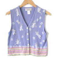 Bunny Butts Tacky Ugly Easter Sweater Vest
