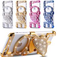 6S Plus Sexy Glitter Diamond Love Lip Ultra Hands-free Case For Apple iPhone 6 6S/ 6s Plus Woman Girl Kick-stand Hard Back Cover
