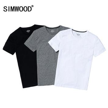 Summer Brand Men's Short-sleeved Cotton T-shirt Men Shirt Solid Casual O-Neck Male Tops & Tees Plus Size Free Shipping TD1067