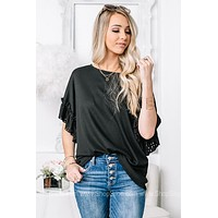 Under The Moonlight Ruffle Sleeve Top