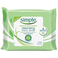 Simple Cleansing Facial Wipes, 25 Count