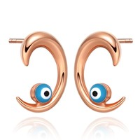 Small Very Special Evil Eye Protection Powers Claws Style Amulets Gold-Tone FashiStyle Earrings