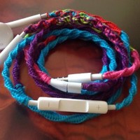Wrapped Tangle Free Earbuds for iPhone 80's Retro Remix Genuine EarPods with Microphone and Volume Control