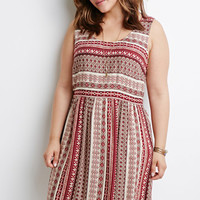 Southwestern Stripe Print Dress