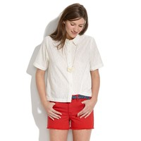 Soft Embroidery Cropped Shirt - blouses - Women's SHIRTS & TOPS - Madewell