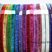 Glitter Headbands  Sparkling Soft Stretch   Your by twolittlewrens