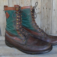 Vintage Orvis Gokey Upland Canvas & Leather Goretex Hunting Hiking Boots Men's Size 11