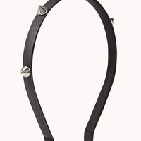 Spiked Faux Leather Headband