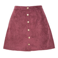 So Suede Maroon Skirt