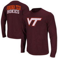 Virginia Tech Hokies  Touchdown Long Sleeve T-Shirt - Maroon