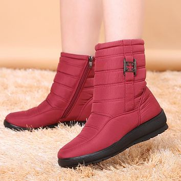 Women Winter Snow Boots Shoes Antiskid Waterproof Flexible Fashion Casual Boots