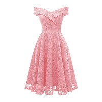 Colorful Hot New Simple Lace Floral Pattern Sleeveless V-Neck Fairy Princess Hot Sexy Night Dress