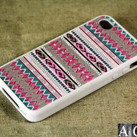 Tribal Native American iPhone 4 iPhone 4S Case, Rubber Material Full Protection