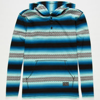 Rip Curl Oscadero Boys Henley Hoodie Charcoal  In Sizes