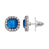 Simply Vera Vera Wang Halo Stud Earrings (Blue)
