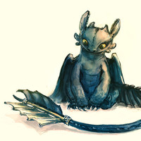 Toothless Art Print by Alice X. Zhang