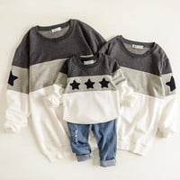 Father and Son Clothes Mother Mommy and Daughter Matching Clothes Shirts Mom and Daughter Dress Stars Hoodie Sweatshirt Pajamas