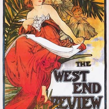 Alphonse Mucha West End Review Poster 24x36