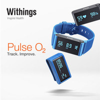 Withings Pulse O2 Activity, Sleep, and Heart Rate + SPO2 Tracker for iOS and Android, Blue
