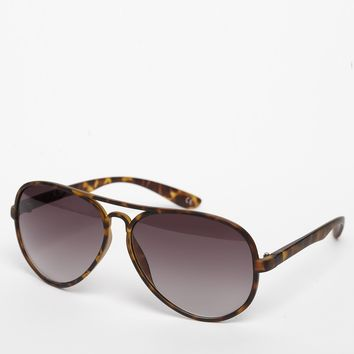 ASOS Aviator Sunglasses in Matte Tortoiseshell