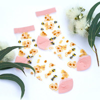 Honey Bee Sheer Socks
