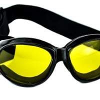 Large Yellow Lens Motorcycle Goggles Protective Riding Sunglasses