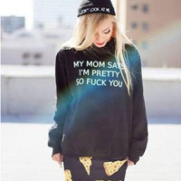 Fashion letters printing Sweater