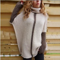 Plus Size Women's Fashion Winter Long Sleeve Knit Tops Pullover Sweater [11869067599]