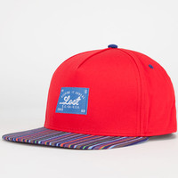 Lost Rambler Mens Snapback Hat Red One Size For Men 24879530001