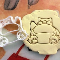 Pokemon Snorlax Cookie Cutter great for cutting Bread, Cheese, Soft fruit and more