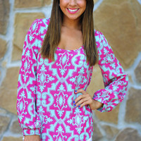 Love And Romance Top: Mint/Pink | Hope's