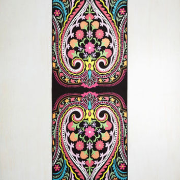 Boho Just Pose to Show Yoga Towel in Paisley by ModCloth