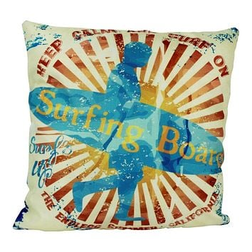 California Surfing Club   Pillow Cover   Throw Pillow   Long Beach   Long beach California   California Gifts   Surfing Gifts   Gift Idea
