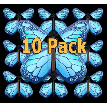 Cobalt Blue Monarch Flying Butterfly (10 Pack)