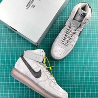 Reigning Champ X Nike Air Force 1 High 07 3m Grey Sport Shoes - Best Online Sale