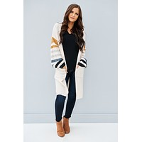 You're Too Late Cardigan (Ivory Combo)