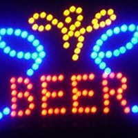 """Beer Cheer LED Sign 19"""" X 10"""" [Bright] [Flashing] [On/off Switch]"""