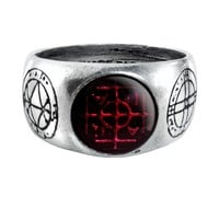 Alchemy Gothic Agla Occult Ring