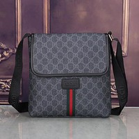Perfect Gucci Men Leather Office Bag  Satchel Shoulder Bag Crossbody