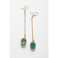 You Are A Gem Earrings - Green