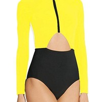 Queen of Shade Long Sleeve One Piece Swimsuit